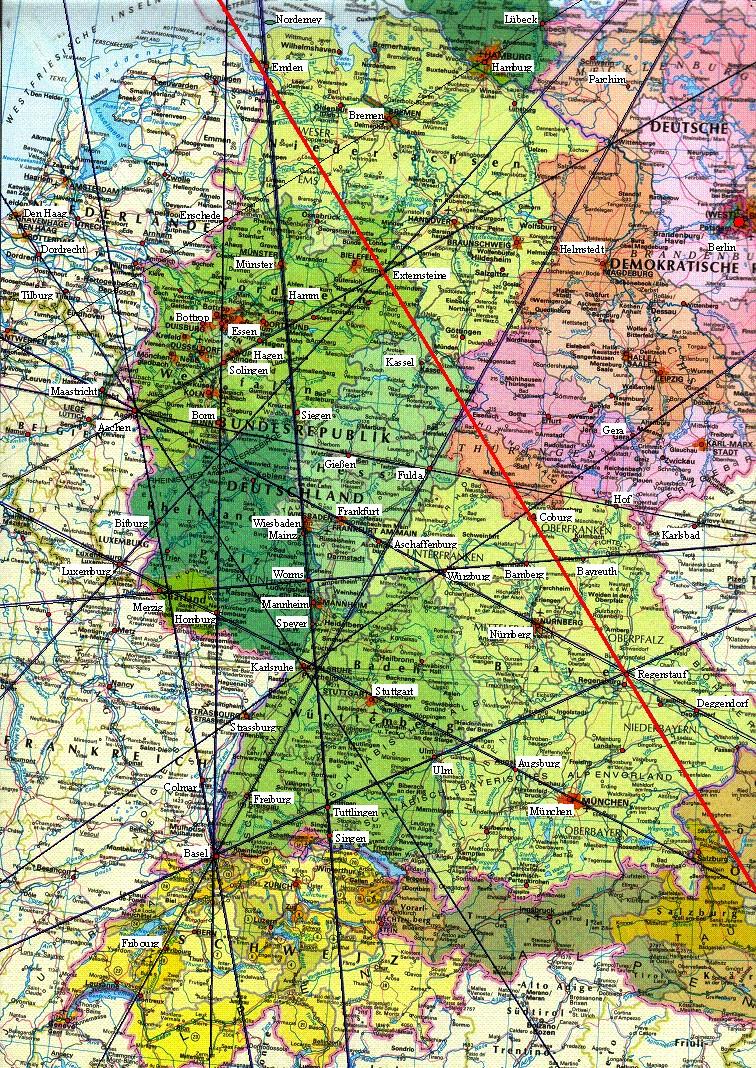 Ley Linien Deutschland Karte | Karte